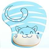 HIMRY Handgelenkauflage Mouse pad mit Gel Handgelenkunterlage Mouse pad mit Gel, Gel Mauspad, KXC5100 bluecat