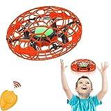 Tomzon Mini Drone per Bambini UFO Quadricottero Giocatolo Elicottero a Induzione a Infrarossi Aereo Ricaricabile con Luce LED Telecomando Mantenere l'Altitudine Allarme Batteria Scarica per Bambini