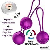 2 in 1 Liebeskugeln Beckenbodentrainer mit Vibration, Drahtlose Fernbedienung schrumpfender Ball...