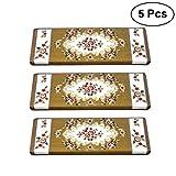 Vosarea 5 pezzi tappeti antiscivolo classiche tappeto tappetini tappeto tappetini antiscivolo tappeti stile europeo tappetini protettivi (Rose01)