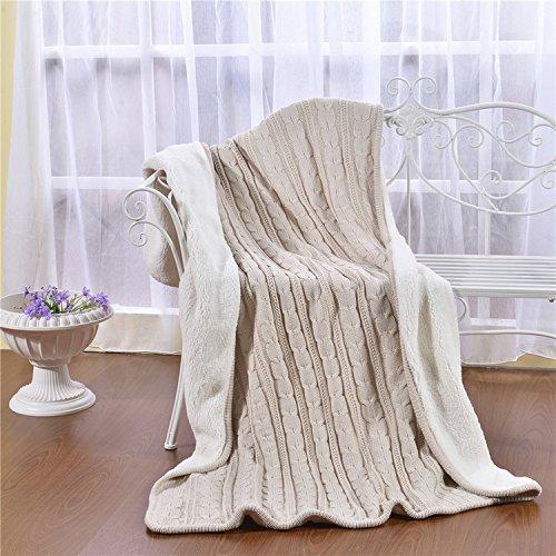 Jeté de lit, Dometool Luxe irlandais Jeté de lit doux et chaud pour chaise ou lit de 119,4 x 180,3 cm