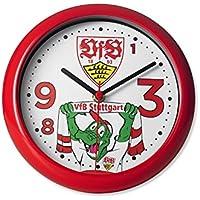 VfB Stuttgart Fritzle Tischuhr mit Wappen und Maskottchen und 1893 im Ziffernblatt! FANARTIKEL