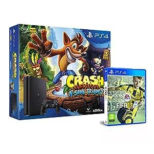 Playstation 4 500 GbD +CrashBandicoot:N'SaneTrilogy + FIFA 17