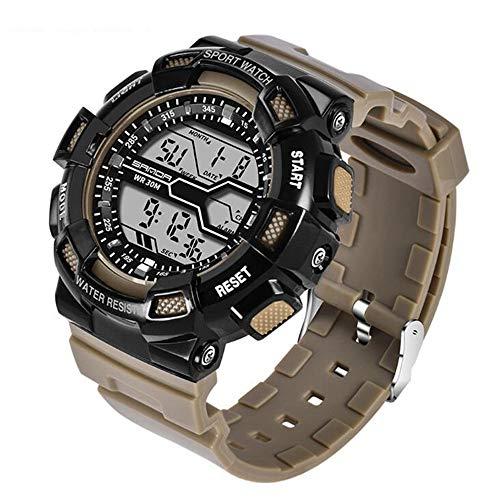 ZSDGY Sportuhr, Wasserdichte Persönlichkeit Elektronische Uhr, LED Männliche Uhr, Herrschsüchtige Digitaluhr,C