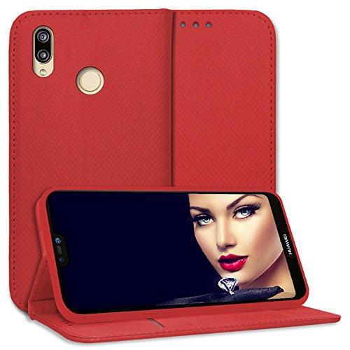 mtb more energy® Schutz-Tasche Bookstyle für Huawei P20 Lite (5.84'') | rot | Kunstleder | Klapp-Cover Hülle Case