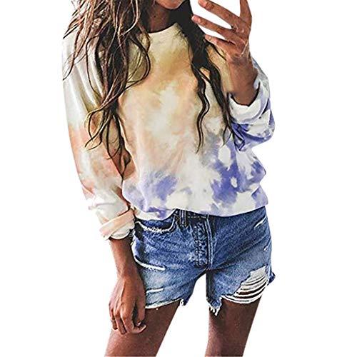 Snowbuff Modelli di Esplosione Camicia da Donna Larga Allentata con Stampa Scollo A V Maglione da Donna Casual Casual da Donna Maglione Caldo E Autunno Felpa con Cappuccio