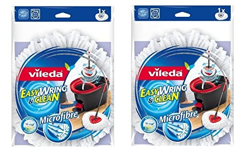 Siluk 2 STÜCKE Vileda EasyWring & Clean Wischmop Ersatzbezug mit Microfaser Easy Wring