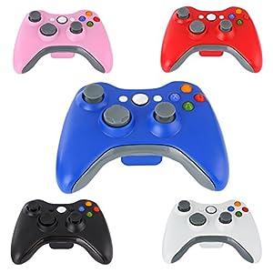 Demiawaking Neue Schwarz 2,4GHz Wireless Game Kontroller Joypad für Xbox 360