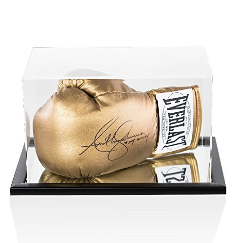 Anthony Joshua Signed Boxing Glove - Everlast Gold '#StayHungry' - In Acrylic Display Case