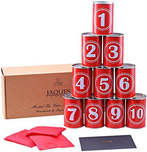 Dosenschießen - Tin Can Gasse Spiel - Werfen Kinder- Echtmetall Blechdosen - Inklusive Bean Bags - Jaques von London -