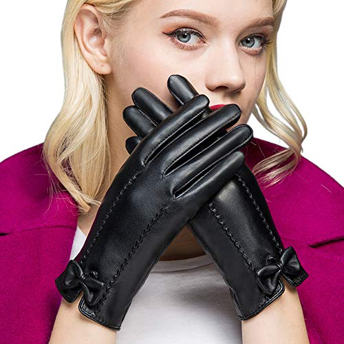 guanti pelle donna Bequemer Laden Guanti Donna Invernali Caldi