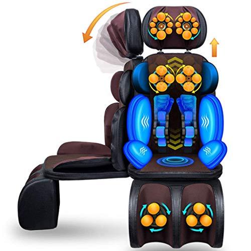 FYYDNR Shiatsu Nacken und Rücken-Massage-Kissen mit Heat & 3D-Tiefe knetet, Pressen, Walzen und Vibrations-Massagegerät Stuhl Pad - Entlasten Muskelschmerzen for Haus, Büro & Auto-Gebrauch