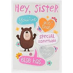 Geburtstagskarte für die Schwester Special Something, mittlere Größe, von Hallmark