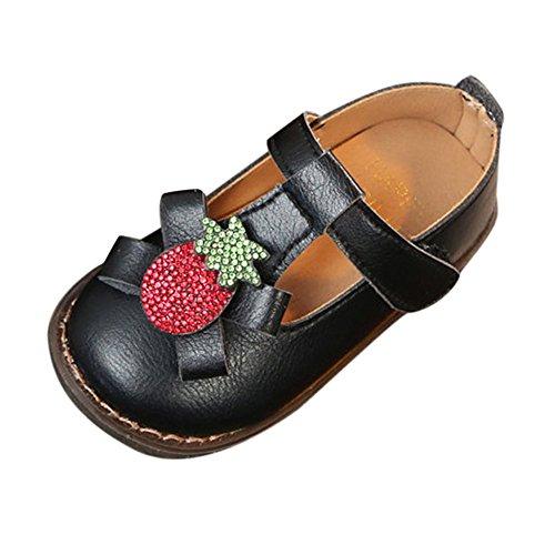 Linlink Turnschuhe Kleinkind Schuhe Babyschuhe Mädchen Tanzschuhe Ballerinas Leder T-Strap Schuhe Lauflernschuhe Mädchen Krabbelschuhe Streifen-beiläufige Wanderschuhe 3-18M
