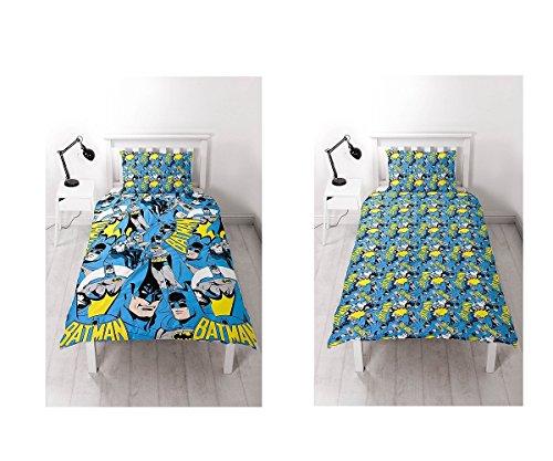 DC Comics Batman-Bettbezugsset für Einzelbett, Wiederholungsdruck-Design (Catwoman Wie Groß Ist)