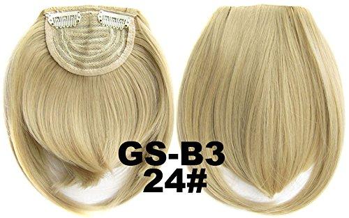 # 24 100% fibre synthétique haute température Clip dans/sur cheveux avant frange frange cheveux