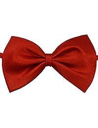 Demarkt Homme Nœuds Papillon Tie Ajustable pour Cérémonie Mariage Soirée Busines Pure Couleur Couleur Solide