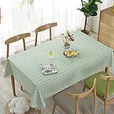Tischdecke Esstisch Wasserdichte und ölbeständige Tischdecke Wave Side Dekorative Tischdecke Rechteckige Quadratische Antifouling Tischdecke,Style1,120 * 170cm