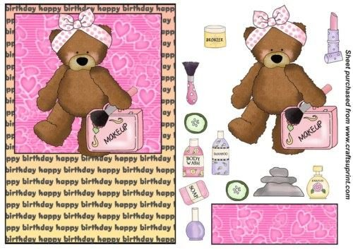 Pamper Yourself Birthday Bear card anteriore 6 di Sharon Poore