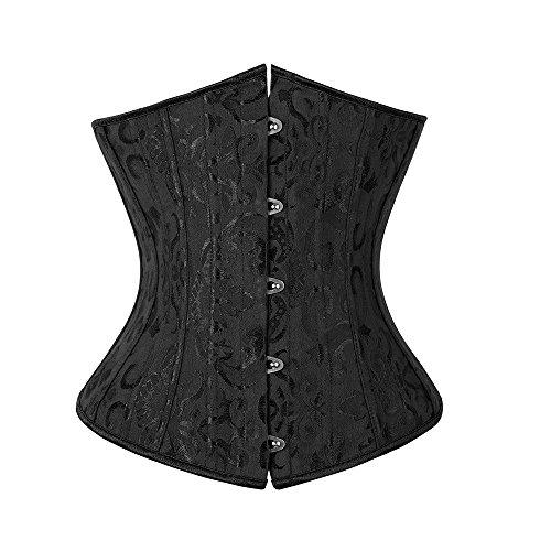 Miss Moly Damen Taillenmieder Schwarz - Black Brocade