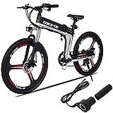 CIOLER Vélo électrique 26 Pouces Repliable pour vélo électrique, Nouveau vélo de Montagne 2019 Pliant avec Batteries Lithium-ION 36V 8Ah, Absorption des Chocs Haute résistance et Vitesse