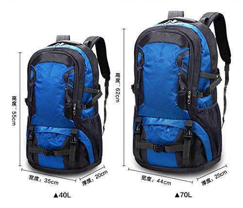 Zainooutdooralpinismoborsatracollauominiedonnegrandecapacitàper iltempo liberoborsadaviaggio(70L) blue(70L)