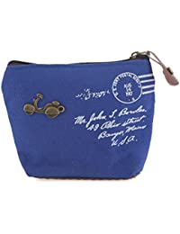 LQZ Women's Vintage Coin Purse Zipper Money Case Changes Bag For Holding Keys,Money,Cosmetic ()