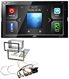 caraudio24 JVC KW-M540BT Bluetooth Aux 2DIN USB MP3 Autoradio für Opel Astra H Zafira B Corsa D Matt-Chrom
