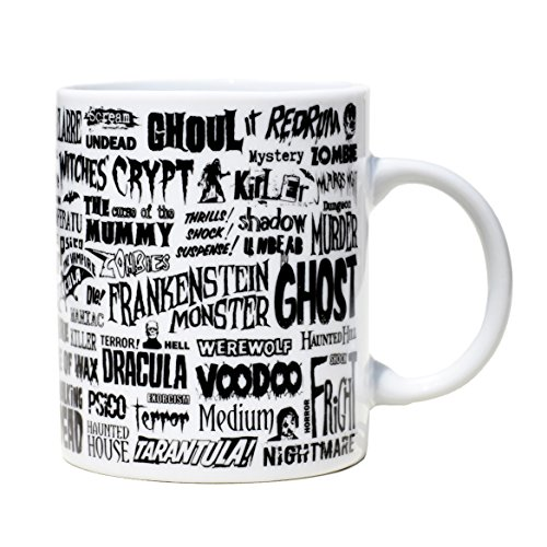 Tasse mug petit-déjeuner de porcelaine blanche 30 cl. Modèle Terreur