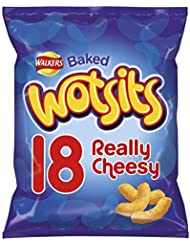 Walkers Wotsits Really Cheesy Snacks, 18 x 16.5 g