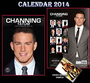 CHANNING TATUM CALENDRIER CALENDAR 2014 + CHANNING TATUM AIMANT DE REFRIGERATEUR - MAGIC MIKE