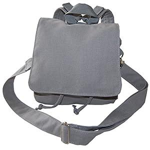 Lieblingsstücke Taschenrohling Canvasrucksack wandelbar zur Tasche in grau