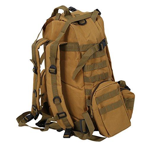 738b2ff927 SODIAL (R) Zaino tattico militare kit di sopravvivenza Campeggio Viaggi  ogni giorno trasporta Khaki