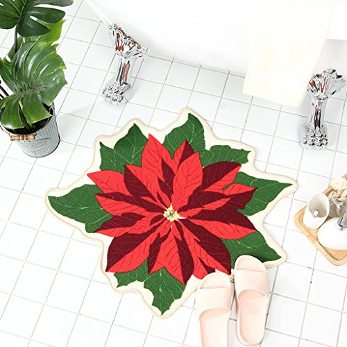 Liling CKH Rutschhemmende Polyester-Matten Nette Blumen-Art Badezimmer-Matten Schlafzimmer-Kopfende-Kissen -