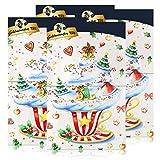 Goldmännchen-Tee Adventskalender mit 24 Türchen & Teebeuteln 50g (4er Pack)