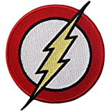 Embird The Flash Classic Lightning Bolt Logo Iron On / Sew On Embroidered Patch