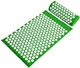 BalanceFrom Acupressure Mat and Pillow Set for Back and Neck Pain Relief and Muscle Relaxation Massage