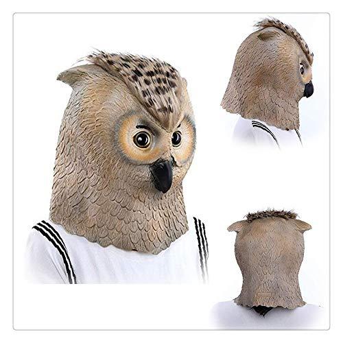 Z-one 1 Latex-Kopfmaske mit Vogel-Eule, für Halloween, Party, Latex, zum Wandern