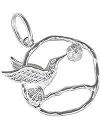 Colibri colgante de plata 925