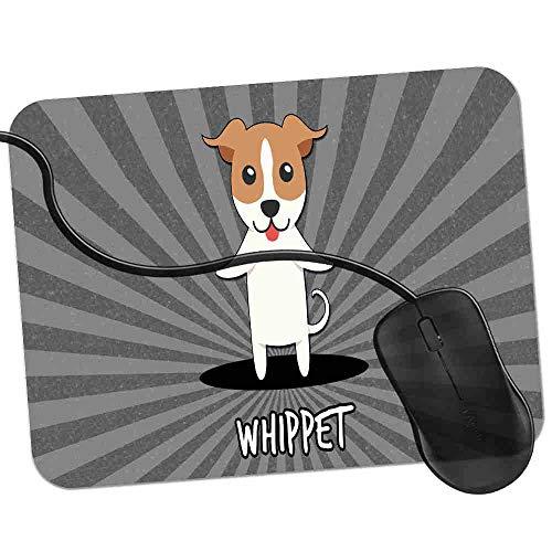 Gaming Mauspad Whippet Snap Dog Fransenfreie Ränder spezielle Oberfläche verbessert Geschwindigkeit und Präzision rutschfest 2K452 Snap Rand
