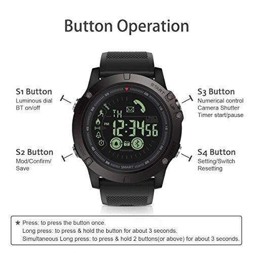 3c5228a1daa28 Montre Connectée Homme Sport, GOKOO Smart Sport Montre Smartwatch ...