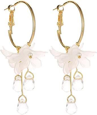 Mypace 925 Silber Gold Set Creolen hängende Ohrringe Für