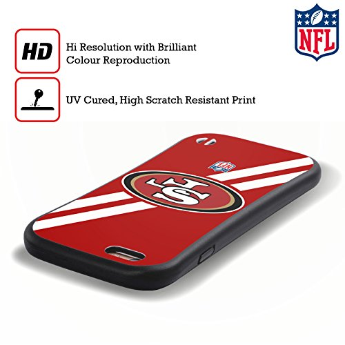 Ufficiale NFL Elmetto San Francisco 49Ers Logo Case Ibrida per Apple iPhone 7 Plus / 8 Plus Strisce