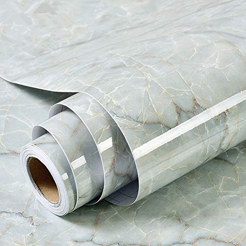 Amao Wasserdicht Marmor Granit Look Kontakt Papier Selbstklebende Tapete Film Vinyl für Regal Liner Duett Tisch 61x 200,7cm