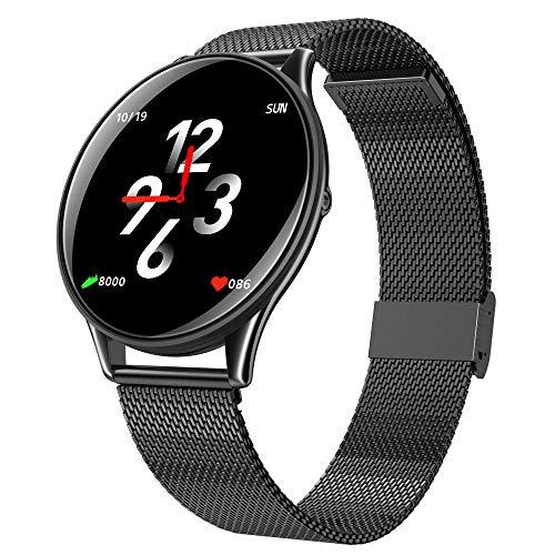 HZYYZH Smart Watch Sport Armband Intelligente Messung Blutdruck Sauerstoff Wasserdichte Unterstützung Schlaf Qualität Test Herrenuhren,Black
