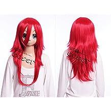 Kawaii-Story W DE 17 DE bc24 Rojo Red 60 cm Cosplay Peluca Wig Perruque
