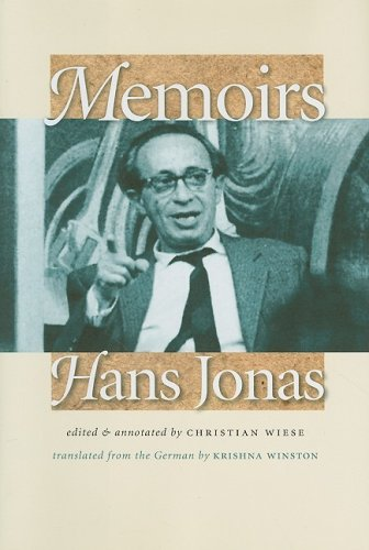 Memoirs: Hans Jonas (Tauber Institute for the Study of European Jewry Series)