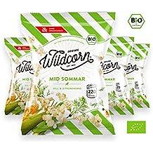 Wildcorn - salziges Popcorn - Dill Zitronengras (4x50g)   gesunder Snack   leckere Alternative zu Chips   Superfood für Büro, Unterwegs, Kino   vegan   100% Bio   ohne Zuckerzusatz   glutenfrei   Healthy Food   Mid Sommar