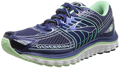 Brooks Glycerin 12 - Zapatos para mujer, color blueprint/grn/slv/ocean, talla 37.5