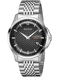 Gucci Reloj Analógico para Hombre de Cuarzo con Correa en Acero Inoxidable  0731903334762 dd7f37d2de1